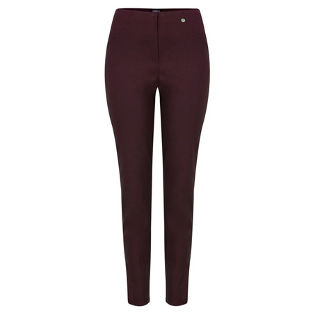 Robell Trousers Bella 78cm Slim Full Length Trouser - Purple
