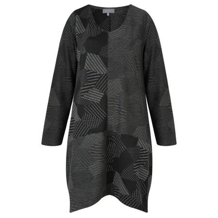 Sahara Patchwork Jersey Tunic - Black
