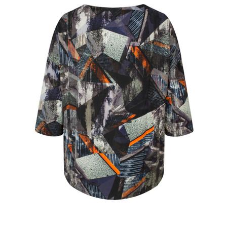 Sahara Modernist Print Pocket Top - Multicoloured