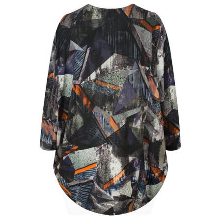 Sahara Modernist Print Jersey Tunic - Multicoloured