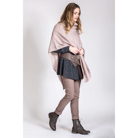 Myrine Geb Knit Poncho - Purple