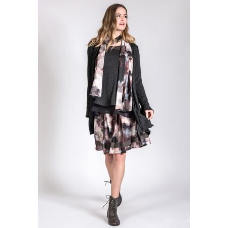 Myrine Anzar Satin Flower Print Skirt - Purple
