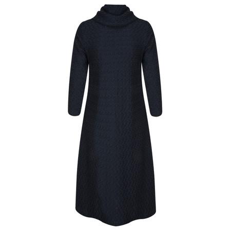 Sahara Tucked Jersey Flared Dress - Blue