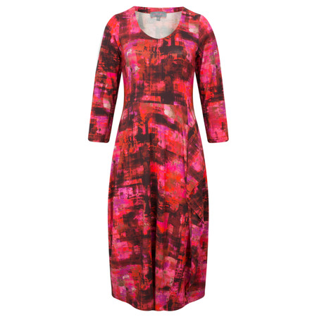 Sahara Pixel Print Jersey Dress - Multicoloured