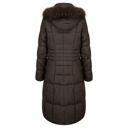 Frandsen Fur Lined Coat - Brown