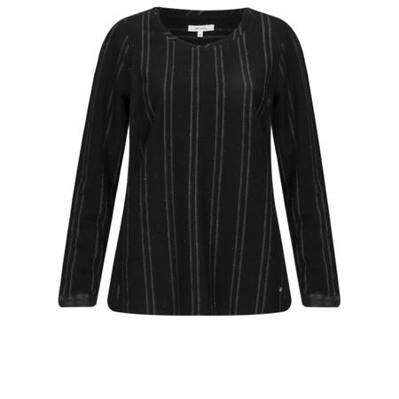 Sandwich Clothing Jacquard Stripe Leather Cuff Jumper - Black