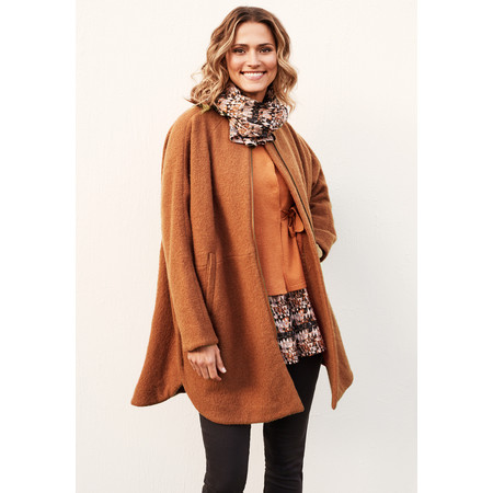 Masai Clothing Tonie Oversized Coat - Orange