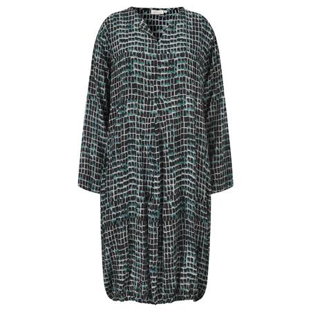 Masai Clothing Nessa Tile Print Dress - Blue