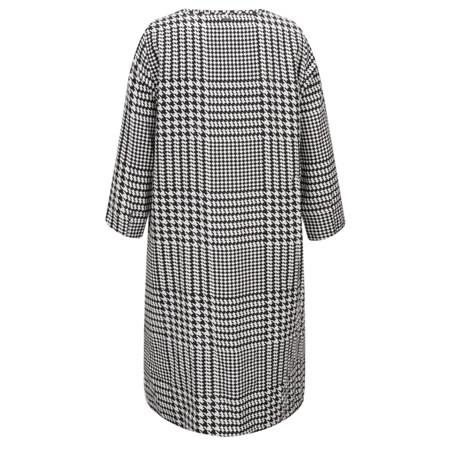 Sandwich Clothing Dogtooth Print Dress - Black