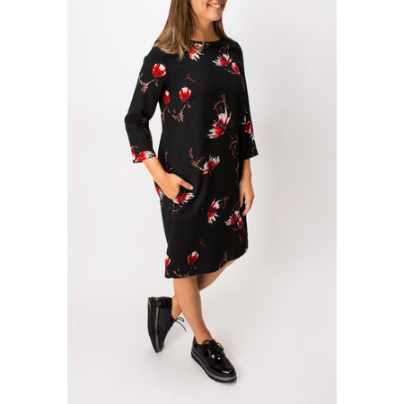 Sandwich Clothing Flower Print Dress - Black