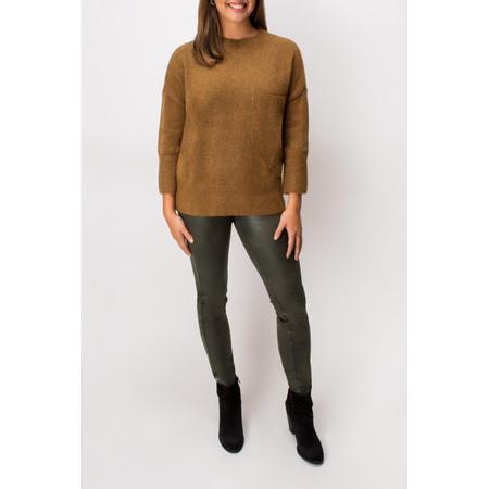 Yaya Large Pocket Detail Sweater - Metallic