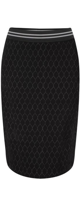 Sandwich Clothing Circle Print Jacquard Jersey Skirt Black