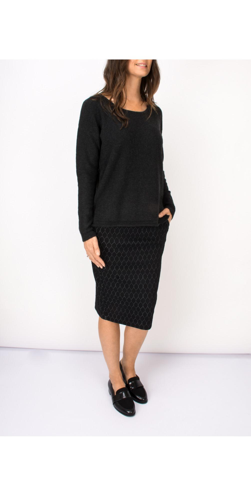 Circle Print Jacquard Jersey Skirt main image