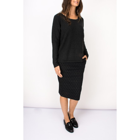 Sandwich Clothing Circle Print Jacquard Jersey Skirt - Black