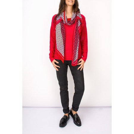 Sandwich Clothing Soft Wool Blend Pullover - Red