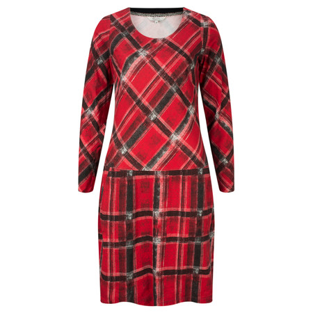 Sandwich Clothing Tartan Print Jersey Dress  - Red