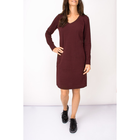 Sandwich Clothing Dot Print Jacquard Dress - Purple