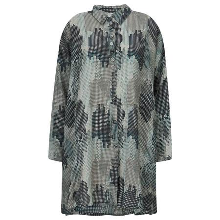 Masai Clothing Iola Abstract Camo Blouse - Blue