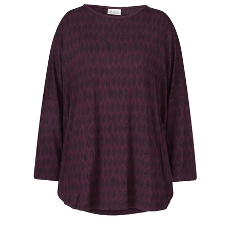 Masai Clothing Bess Oversized Top - Red