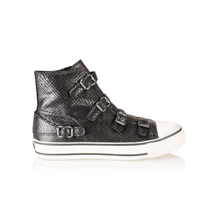 Ash Virgin Almeria Buckle Trainer Shoe - Black