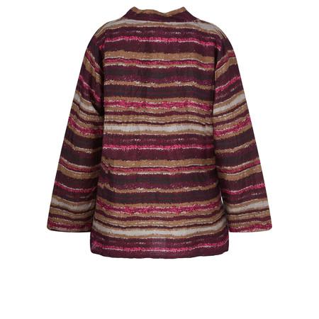 Masai Clothing Striped Birgitta Top - Red