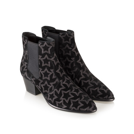 Ash Hope Star Embroidered Boots  - Black