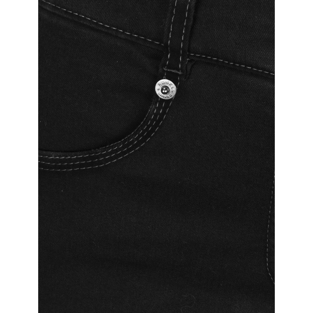 Robell Star Power Stretch Black Skinny Jean Black