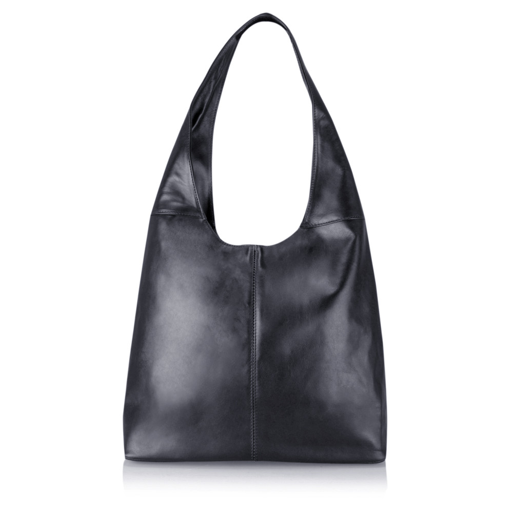 Gemini Label Bags Sophy Slouchy Leather Bag Navy