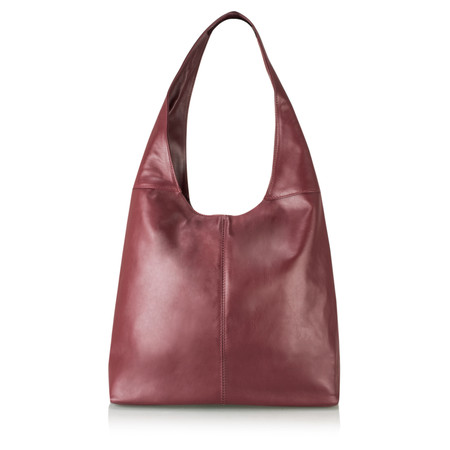 Gemini Label Roana Slouchy Leather Hobo Bag - Purple
