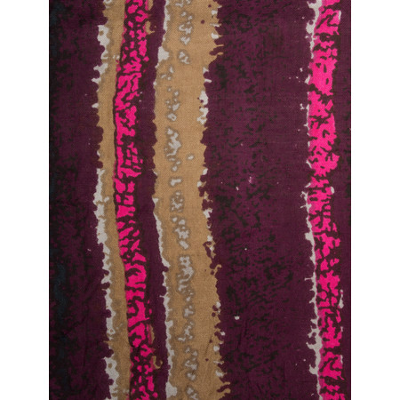Masai Clothing Striped Along Scarf - Red