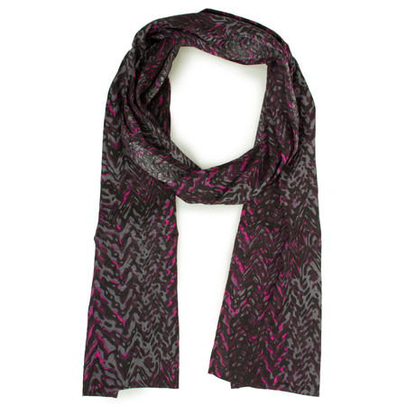 Masai Clothing Zigzag Printed Along Scarf - Red