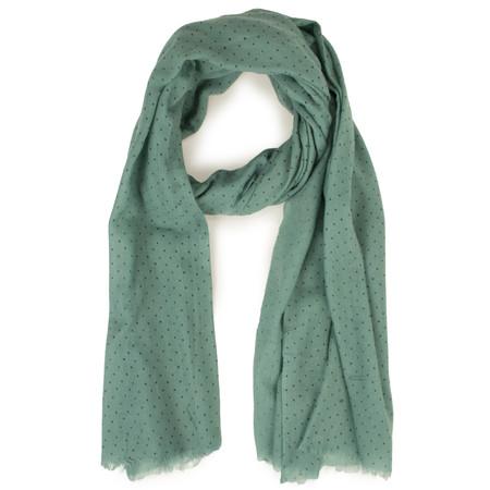 Sandwich Clothing Dot Print Wool Scarf - Green