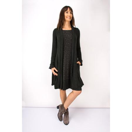 Myrine Njord Jersey Longline Cardigan - Black