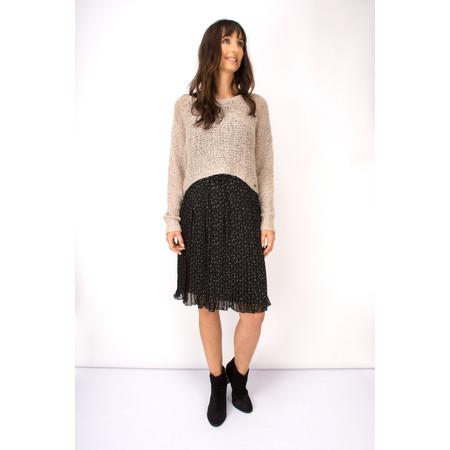 Myrine Adonai Chiffon Dot Skirt - Black