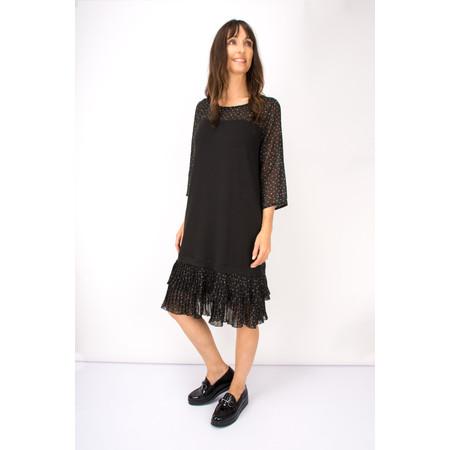 Myrine Alalu Chiffon Dot Dress - Black