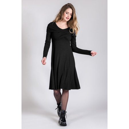 Myrine Pele Jersey Cross Over Dress - Black