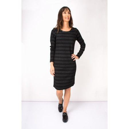 Sandwich Clothing Jacquard Striped Jersey Dress - Black