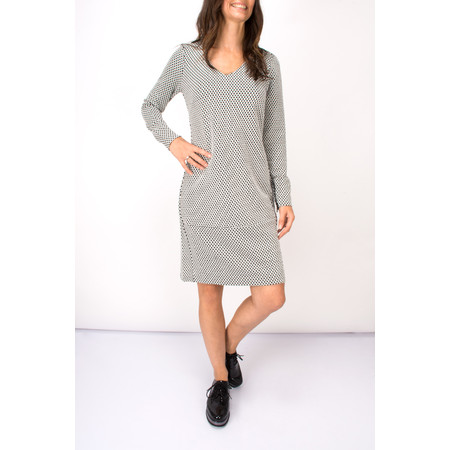Sandwich Clothing Dot Print Jacquard Dress - Black