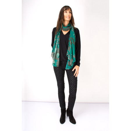 Sandwich Clothing Floral Print Victoria Weave Scarf - Green