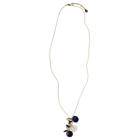 Sandwich Clothing Multi Charm Beaded Necklace - Blue