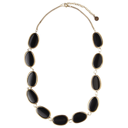 Sandwich Clothing Beaded Necklace - Black