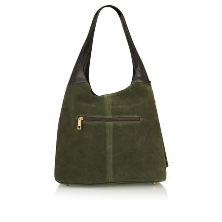 Pure White Padova Handbag - Green