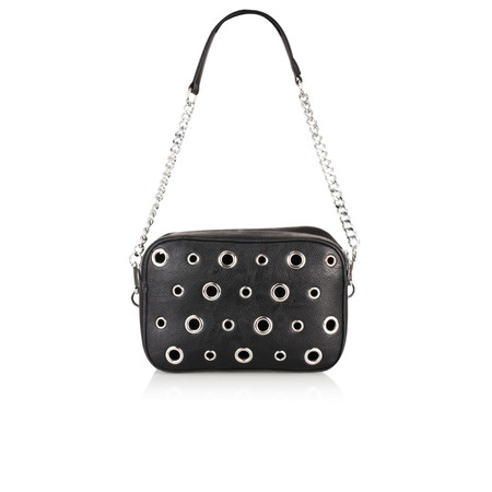 Malissa J Diamanda Eyelet Messenger Bag - Black