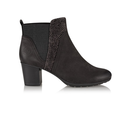 Marco Tozzi Lena Chunky Heel Ankle Boot - Black