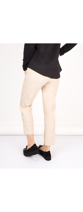 Robell Trousers Bella 7/8 Cropped Trouser  Beige