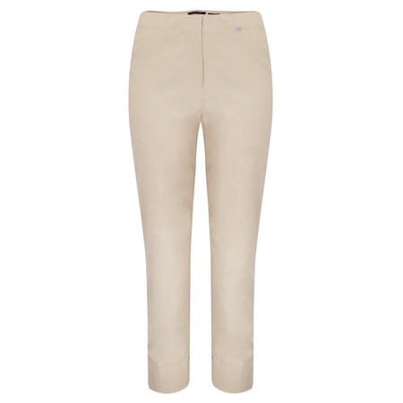Robell Trousers Bella 7/8 Cropped Trouser  - Beige