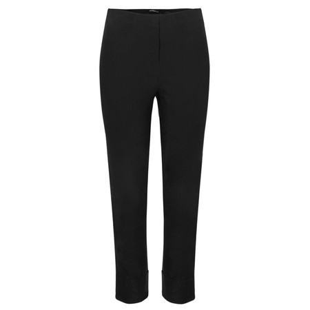 Robell Trousers Bella 7/8 Cropped Trouser  - Black