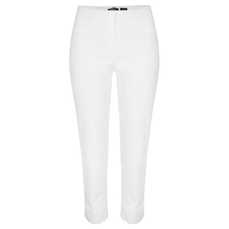 Robell Bella 09 White Ankle Length Jean with Cuff - White
