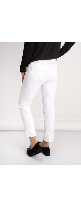 Robell Trousers Bella 09 Jean 7/8 Length with Cuff White