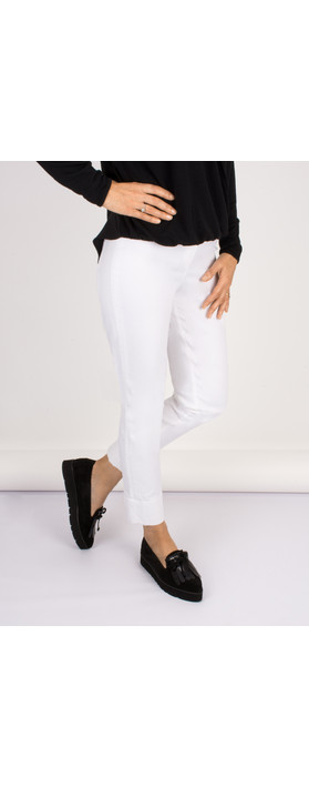 Robell Trousers Bella 7/8 Cropped Jean White